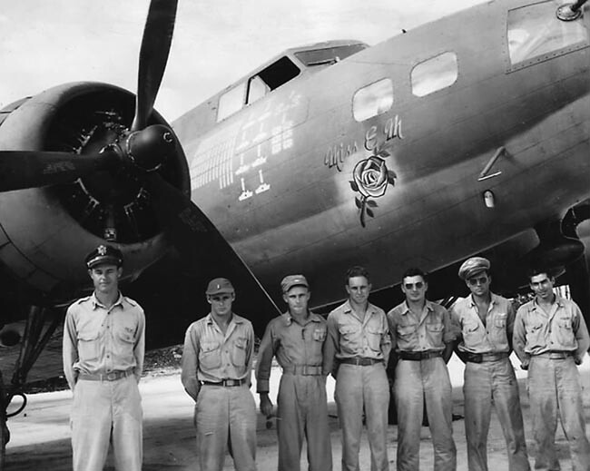 B-17 MISS EM and crew