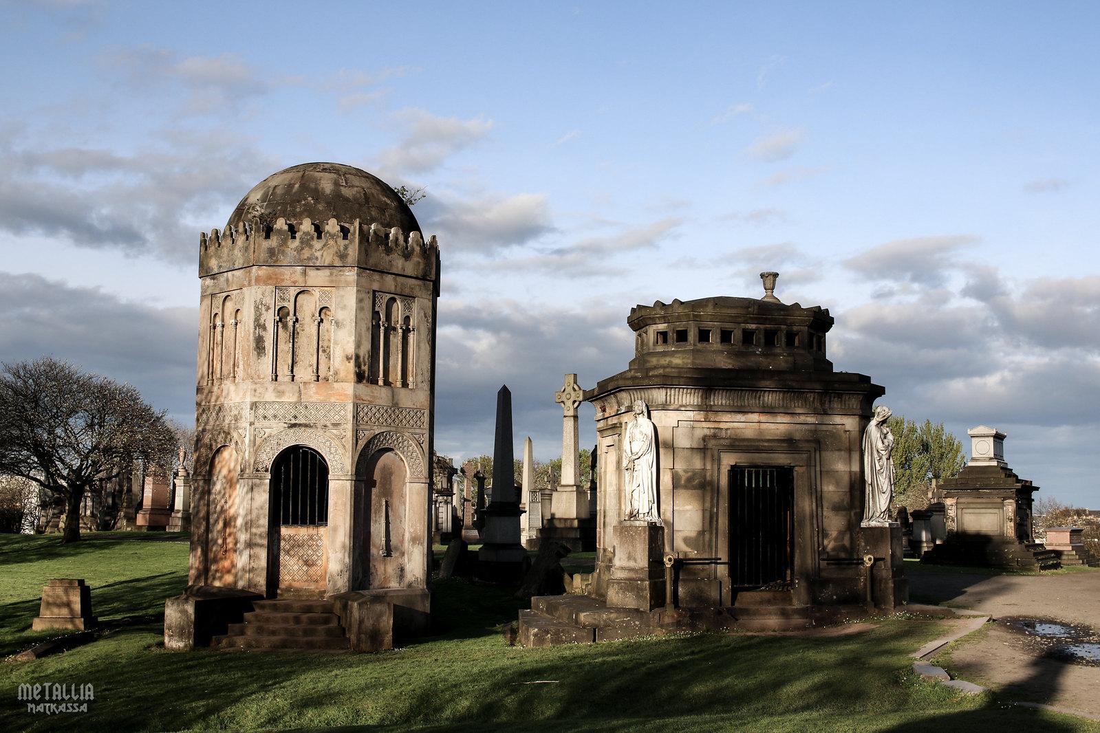 glasgow necropolis, glasgow cemeteries, victorian cemeteries