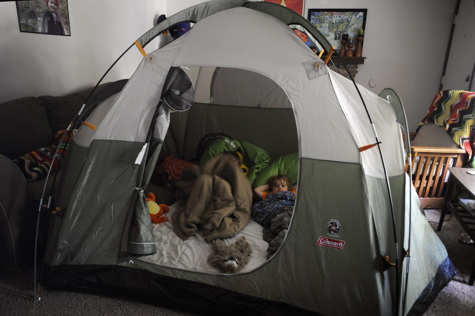 Urban camping.