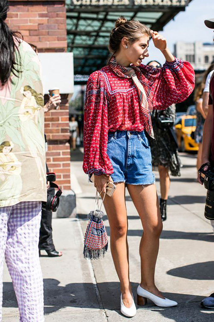 how to wear kitten heels summer 2017 street style outfits fashion trend4