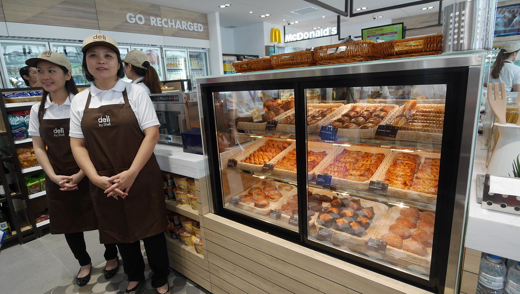 Pick up freshly-baked pastries at Deli by Shell.