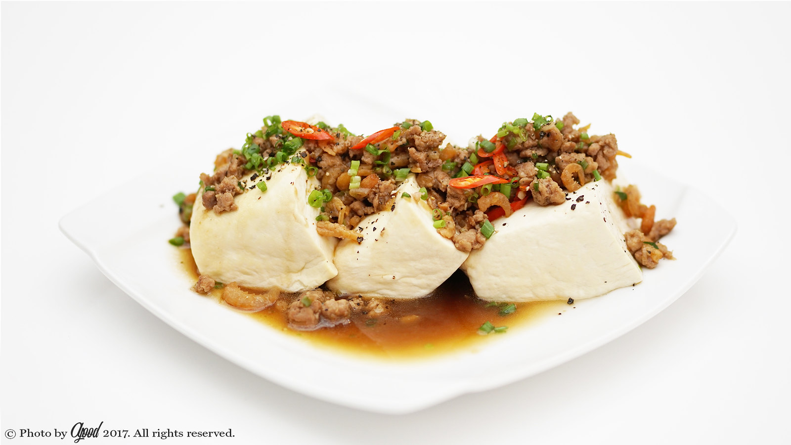 Steamed Tofu with Ground Pork – Easy and Delicious!