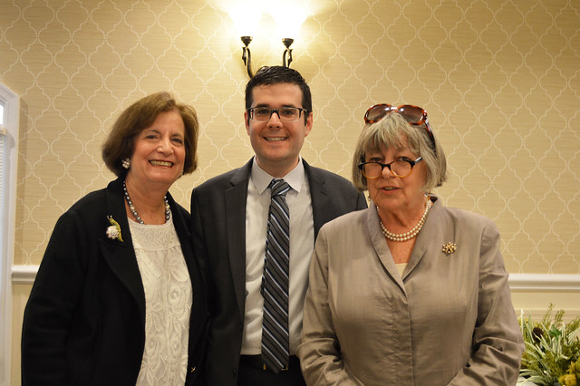 GenMtgMayLunch2017_0059; Florence Begun/Vice-President, Dr. Gregory Geehern, Kathy Hutchins/President.