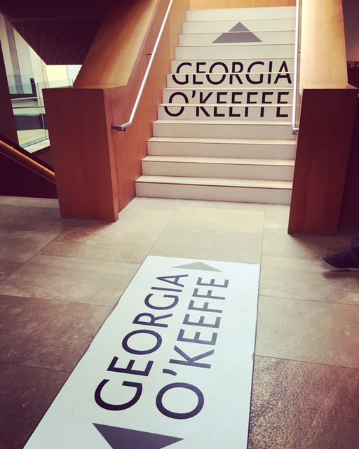 At the Georgia O'Keeffe Exhibit at Art Gallery of Ontario. From Georgia O'Keeffe, Artist and the Original Foodie