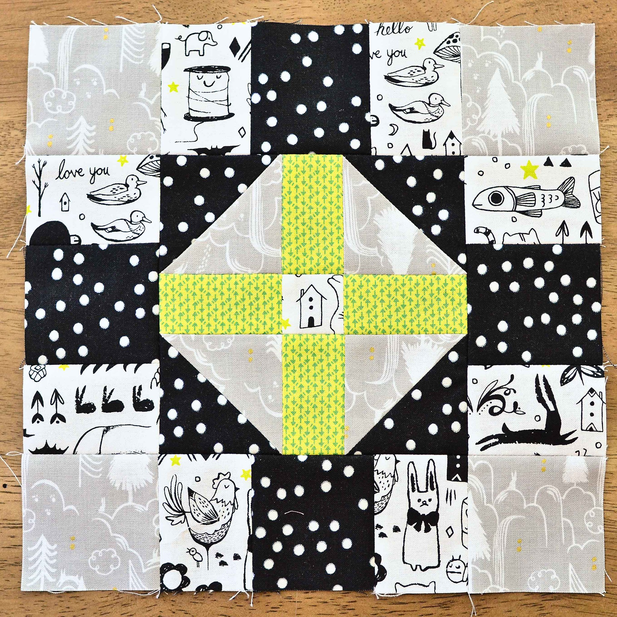 The Fussy Cut Sampler QAL Block 27