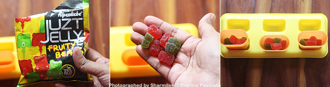 How to make Gummy bear popsicles recipe - Step1