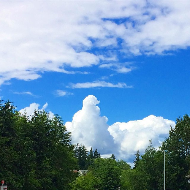 Fun with cloud shapes: what do you see? I see the Flavor Burst I'm gonna snarf in Portland tomorrow! 🍦