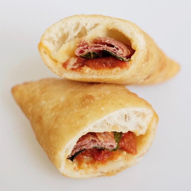PIZZA FRITTA - TOMATO, MOZZARELLA, BASIL, SMOKED HAM 2