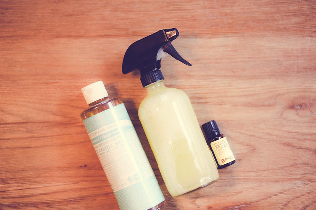 DIY Essential Oil All Purpose Cleaner. Super easy!