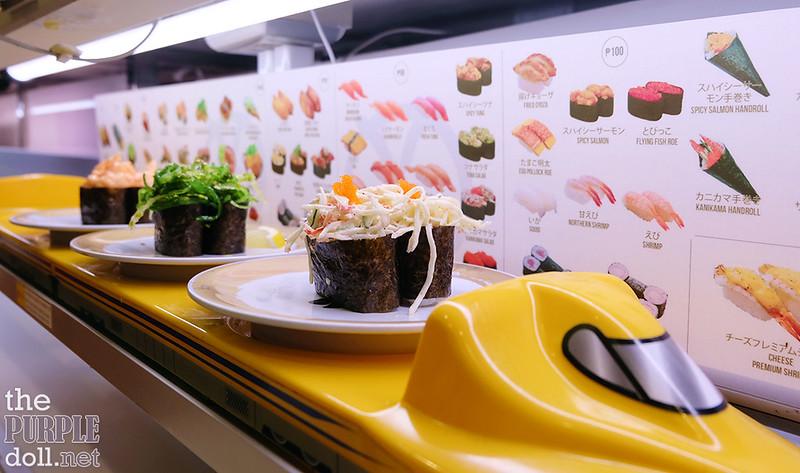 2nd round of sushi at Genki Sushi