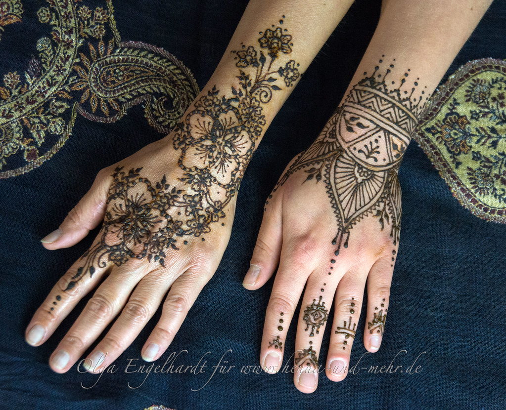 Henna Or Mehndi : Henna for amber back of the hand or mehndi is not u flickr