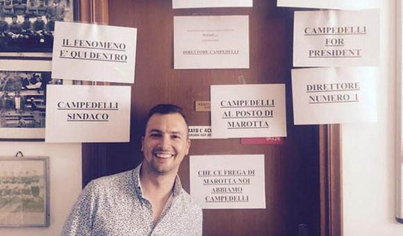 Congratulazioni al neo direttore sportivo Diego Campedelli!