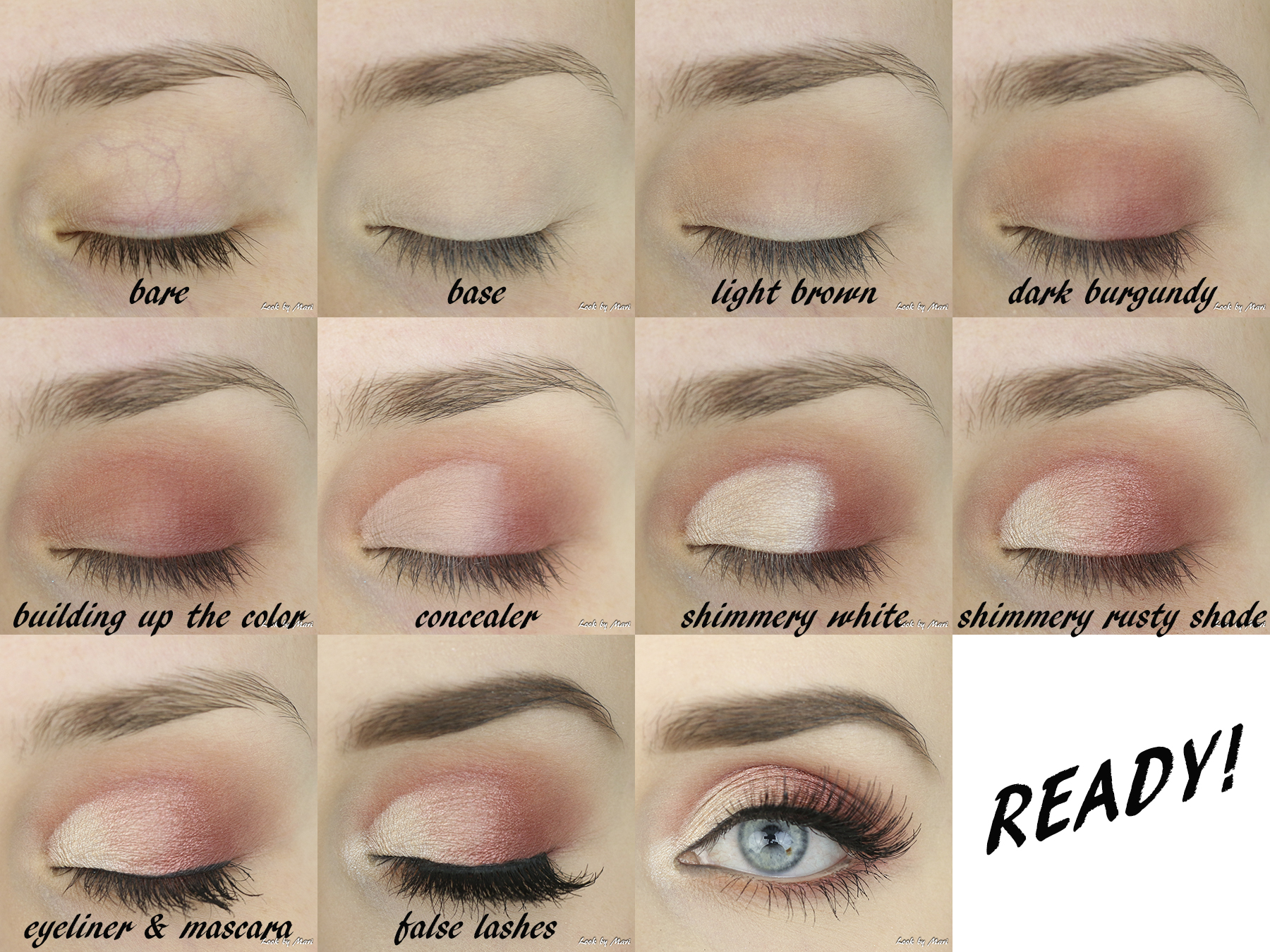 6 nyx perfect filter rustic antique eye makeup tutorial inspiration inspo swatches