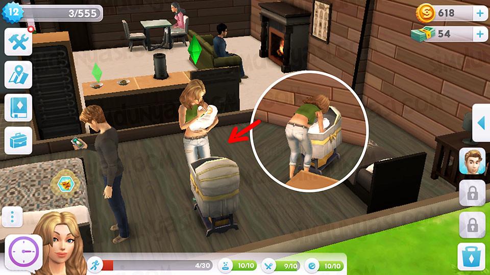 The Sims Mobile - Bebek Yap Serüveni - Beşik - Bebeği Besle