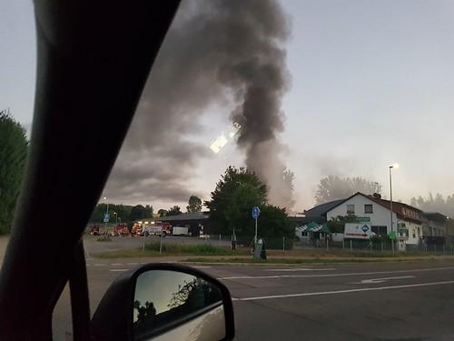 Königsbach-Stein: Brand in Pferdeverein - 19.06.2017