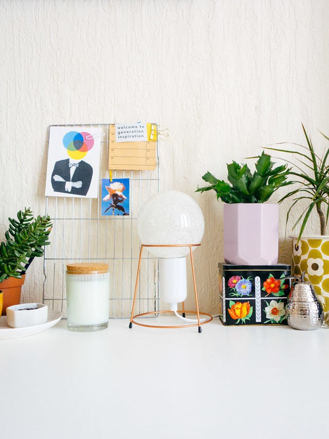 colourful desk accessories