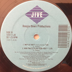 BOOGIE DOWN PRODUCTION:WHY IS THAT?(LABEL SIDE-B)