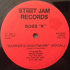 BOSS K:RAPPER'S NIGHTMARE(LABEL SIDE-A)
