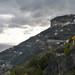 View of Ravello (atop the cliff), Amalfi Coast, Italy