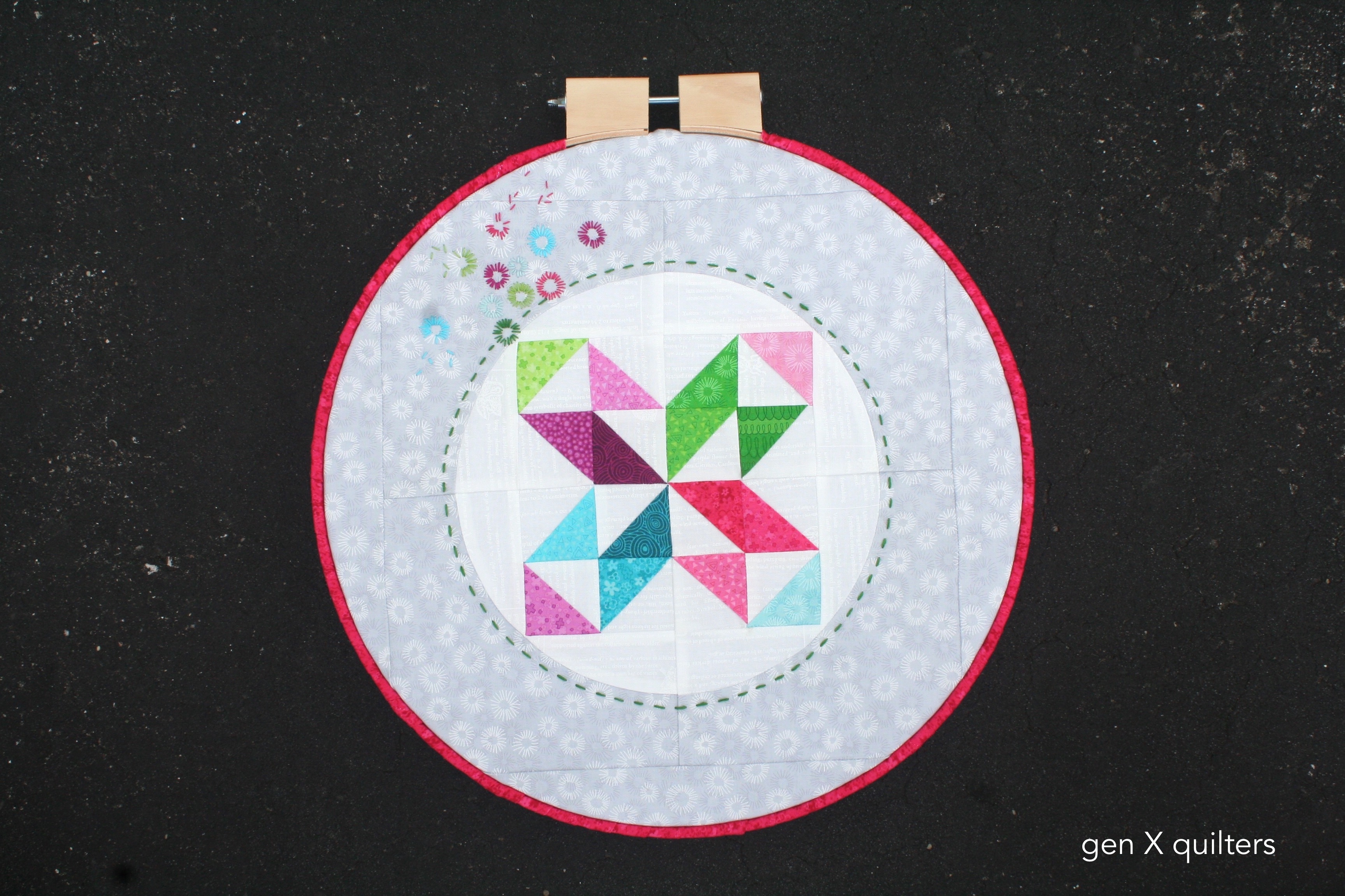 Hopscotch Fabric HOOP Quilt