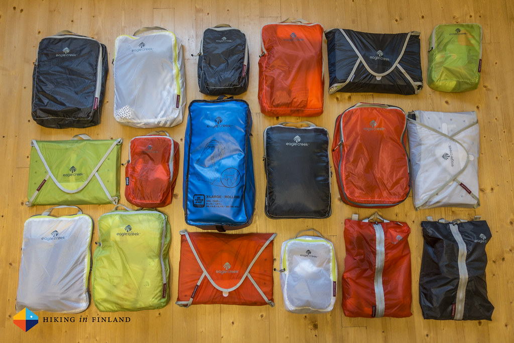 Eagle Creek Duffle packed up & Pack-It System Cubes Wide