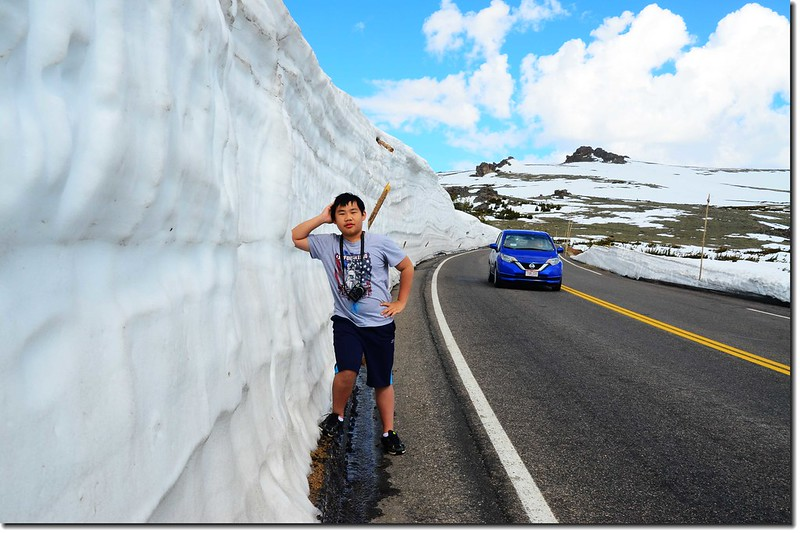 Snow wall along Trail Ridge Road 9