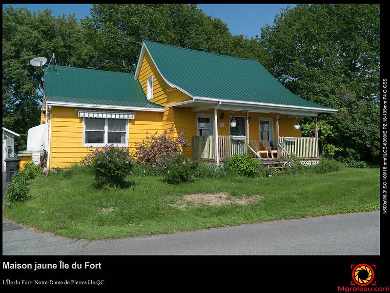 Maison jaune Île du Fort