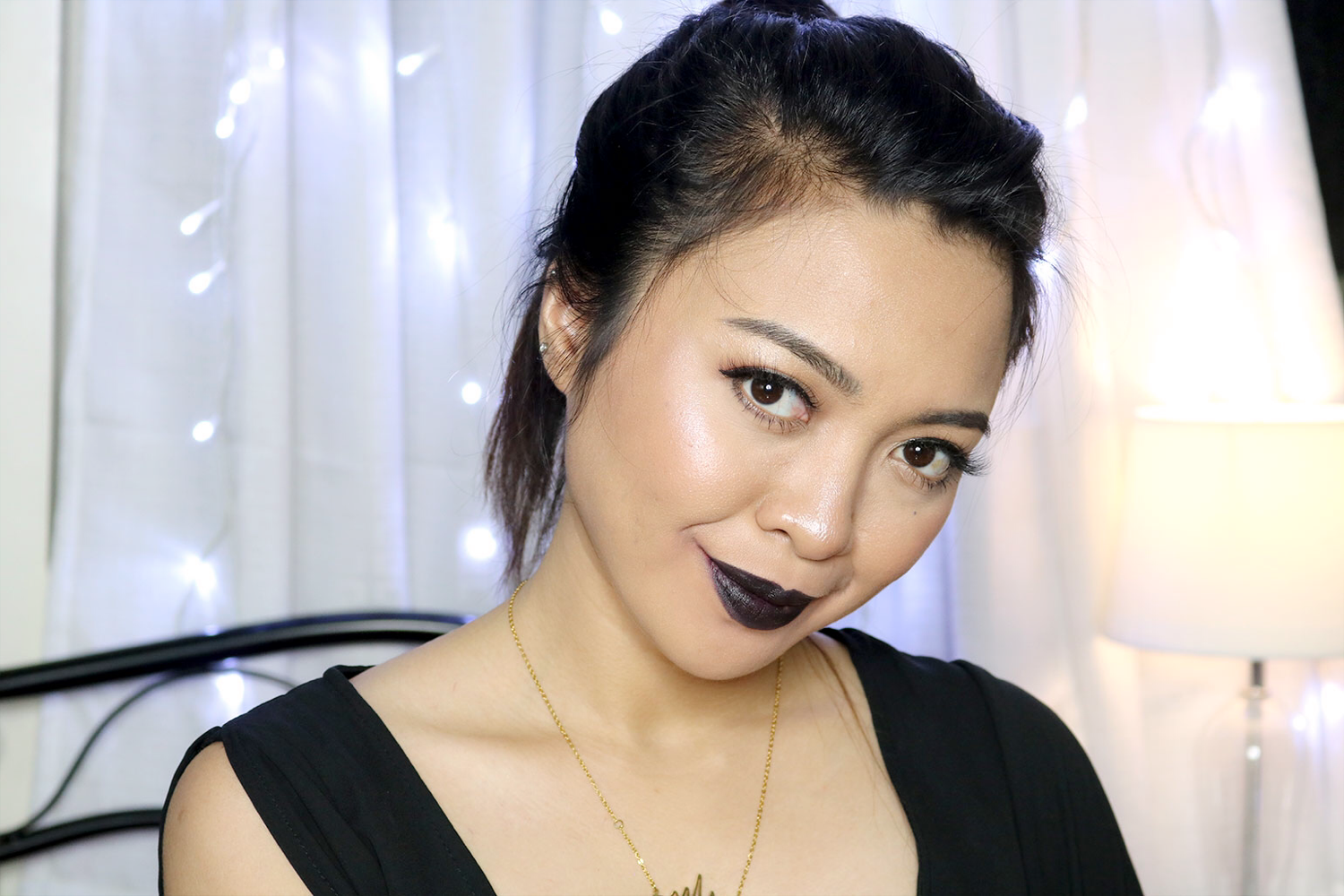 27 Maybelline Loaded Bolds Mattes Review Swatches Photos - Pitch Black - She Sings Beauty by Gen-zel
