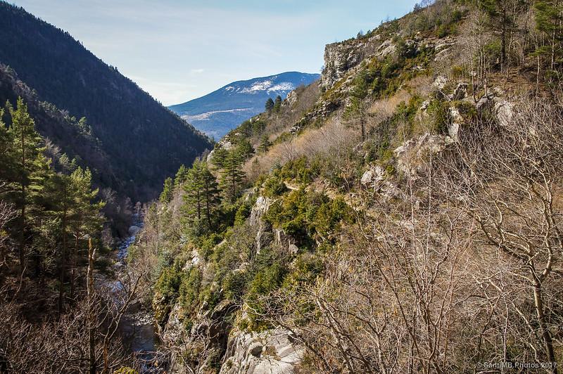 Vall de Ribes desde el desfiladero de la Solaneta del Salt del Grill