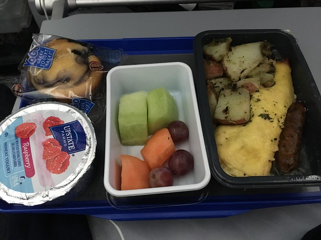 Omelet and sausage - United Airlines