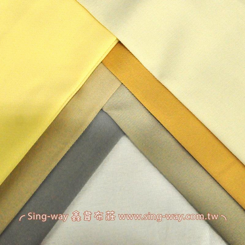 3C340057 土黃色系 素面T/C 棉布 斜紋布