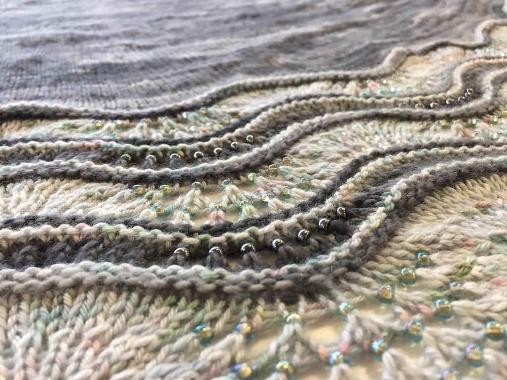 beautiful beaded shawl snapped at knitting group