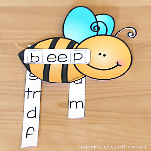 Bee Themed Double E Word Slider
