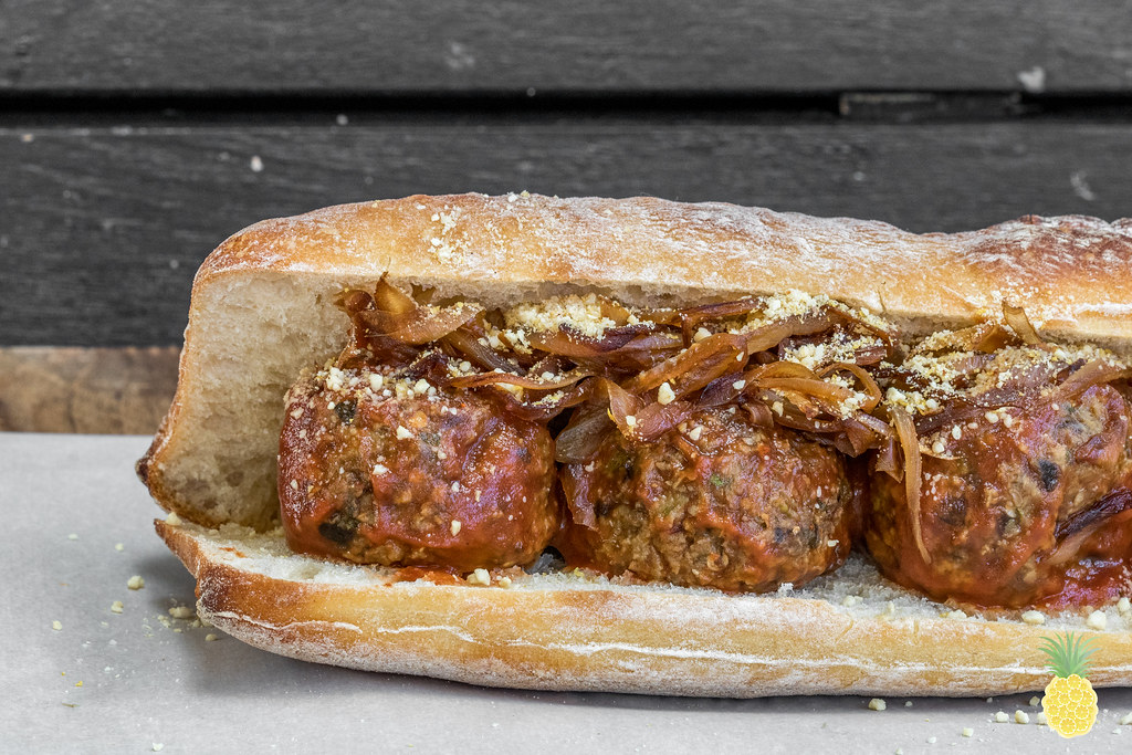 Meatball Subs With Caramelized Onions Recipe — Dishmaps