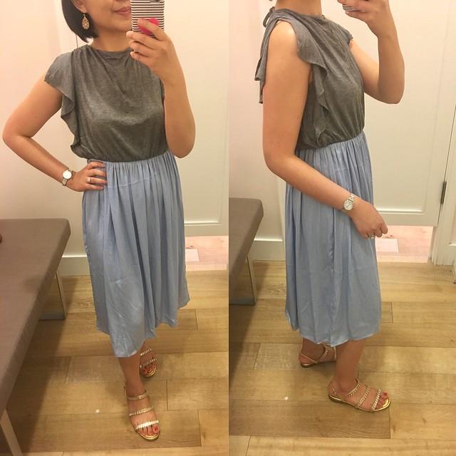 LOFT Flutter Duet Dress, size XSP