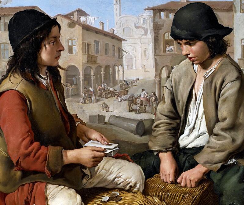 Giacomo Ceruti - Portaroli che giocano a carte sulle ceste