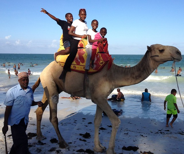 A camel ride for some of our GLO Transition House Children
