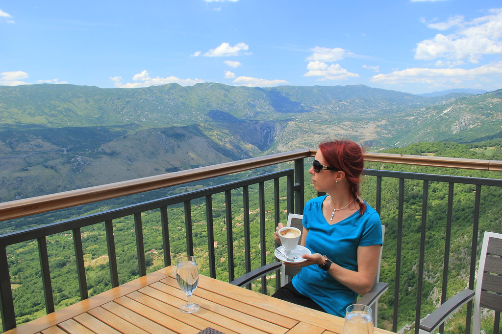 Coffee with a view on route to Ostrog Monastery
