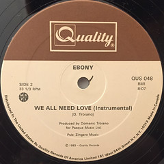 EBONY:WE ALL NEED LOVE(LABEL SIDE-B)