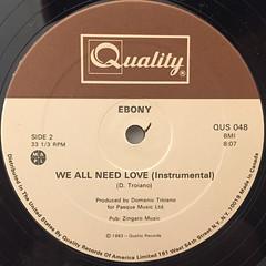 EBONY:WE ALL NEED LOVE(LABEL SIDE-B)