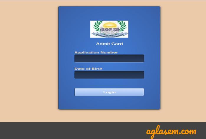 JKCET 2021 Admit card