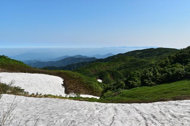 二王子岳 登山道からの展望