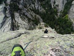 Descente de la partie raide du sommet de Punta Malanda : Olivier