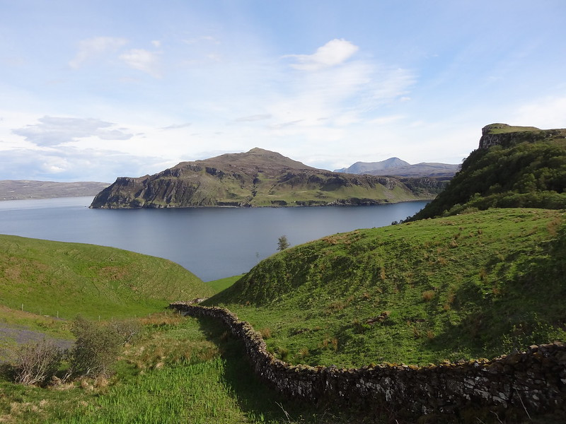 Green hill, blue waters. Scorrybreac Circuit scenery