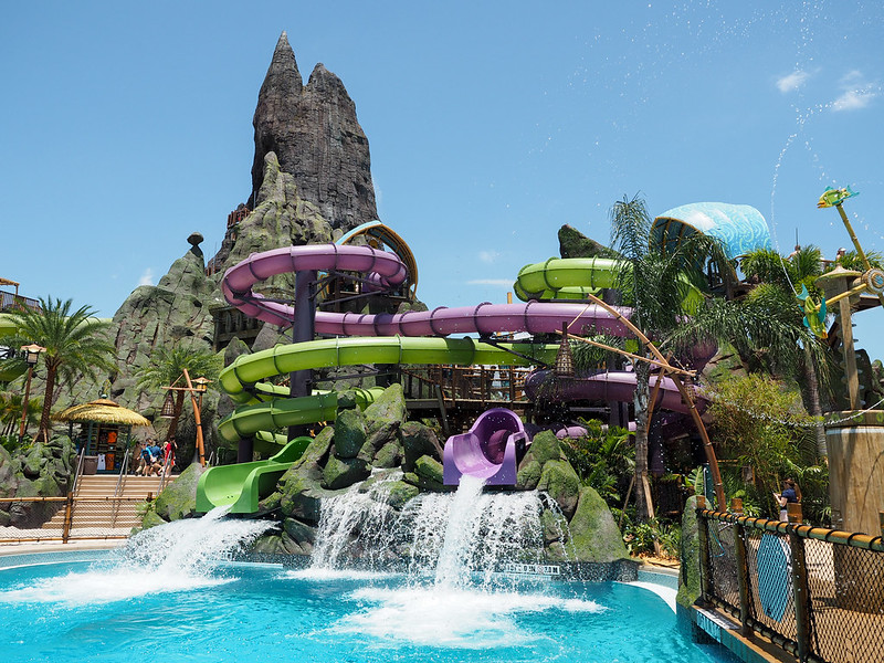 Slides at Volcano Bay
