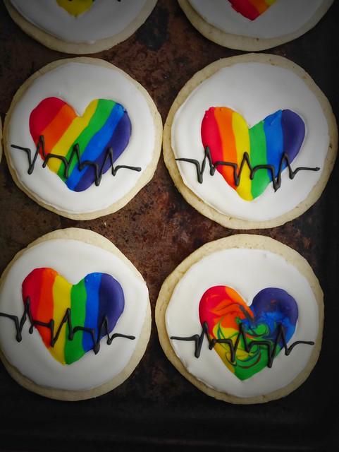 rainbow heart cookies, kokocooks.com