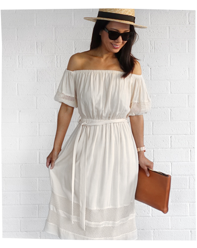 What I Wore: Tularosa Off Shoulder Dress
