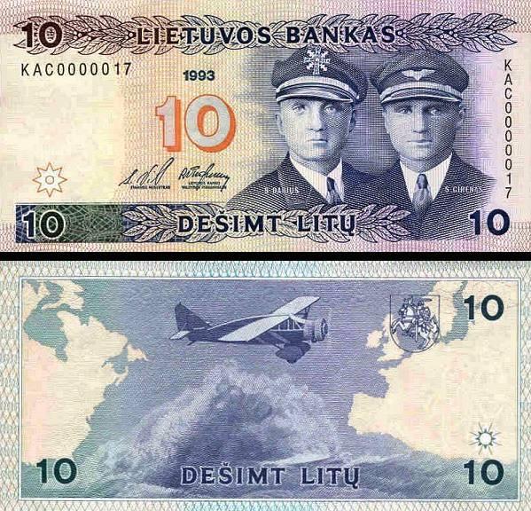 10 Litu Litva 1993, P56