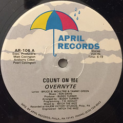 OVERNYTE:COUNT ON ME(LABEL SIDE-A)
