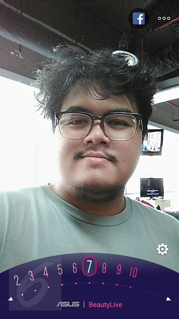 Fitur BeautyLive Asus Zenfone Live. Liputan6.com/Iskandar